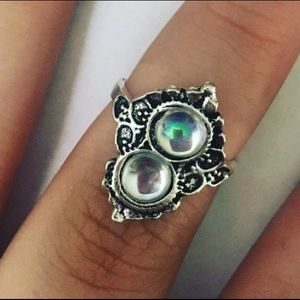 Jewelry - Statement Silver BOHO Duo Rhinestone Blooming Ring